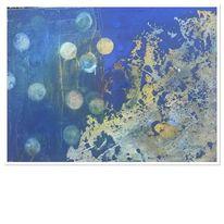 Blau, Abstrakt, Wasser, Bubbles
