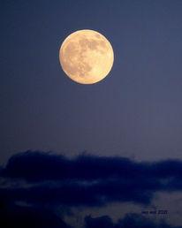 Mond, Farben, Wolken, Himmel