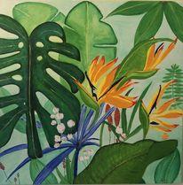 Pflanzen, Malerei, Urwald,