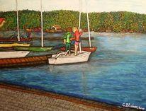 Freizeit, See, Herbst, Malerei