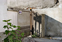 Haus, Schatten, Fassade, Fotografie