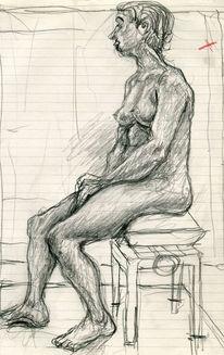 Figur, Menschen, Expressionismus, Zeichnungen