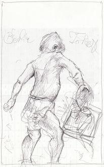 Figur, Abstrakt, Expressionismus, Zeichnungen