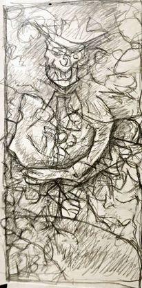 Expressionismus, Kopf, Abstrakt, Surreal