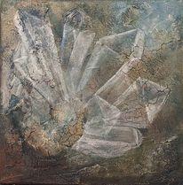 Kristall, Mineral, Stein, Acrylmalerei