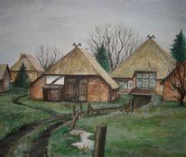 Ahrenshoop, Ostsee, Bauernhof, Malerei