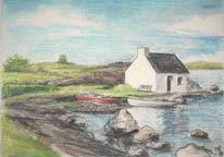 Irland, Galway, Küste, Boot
