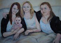 Schwestern, Kleine cousine, Menschen, Malerei