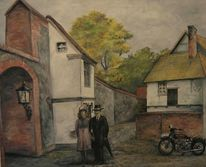 Neubrandenburg, Stadtmauer, Malerei,
