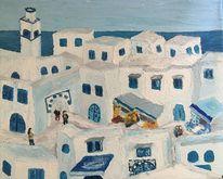 Maghreb, Landschaft, Dorf, Weiß
