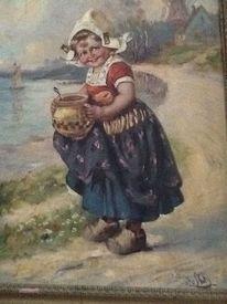 Mädchen, Holzschuhe, Mittelalter, Pinnwand