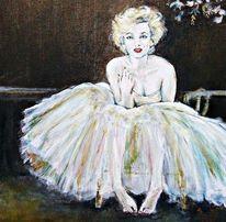 Monroe, Klimt, Portrait, Malerei