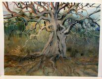 Savanne, Aquarellmalerei, Meisterwerk, Kenia