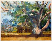 Landschaftsmalerei, Landschaft, Afrika, Baum