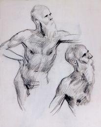 Malerei, Mann, Zeichnung, Bleistiftzeichnung