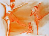 Tänzerinnen, Figur, Frau, Malerei