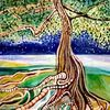 Baum, Acrylmalerei, Wurzel, Blätter