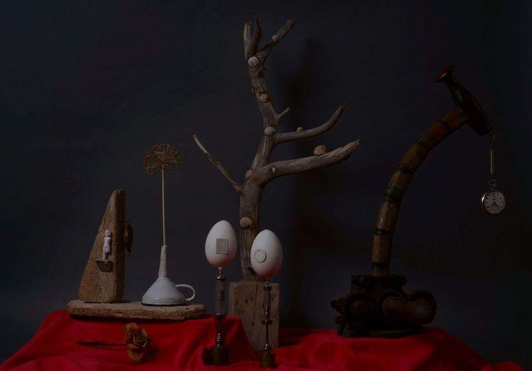 Surreal, Objekt, Collage, Fotografie, Zeit