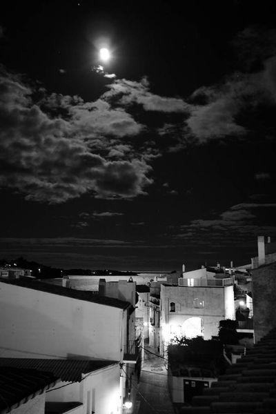 Mond, Himmel, Meer, Nacht, Cadaques, Fotografie