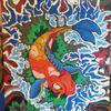 Fisch, Comic, Fantasie, Koi