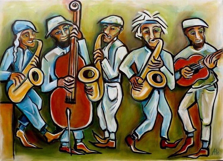 Musiker, Musik, Menschen, Saxofon, Rhythmus, Kontrabass