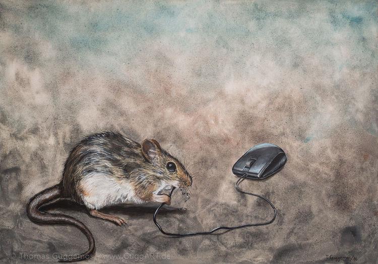 Computermaus, Maus, Systemadministrator, Gemälde, Acrylmalerei, Malerei