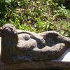 Figur, Keramikfigur, Gartenplastik, Liegend