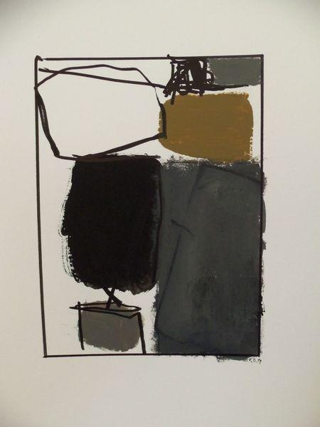 Weiß, Landschaft, Grau, Schwarz, Malerei