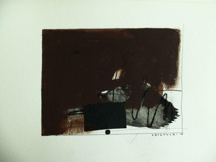 Schwarz weiß, Braun, Grau, Komposition, Weiß, Malerei