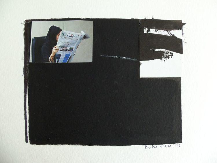 Frau, Schwarz, Abstrakt, Illustrationen