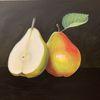 Licht und schatten, Stillleben, Acrylmalerei, Obst