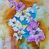 Blumen, Lilien, Aquarellmalerei, Aquarell