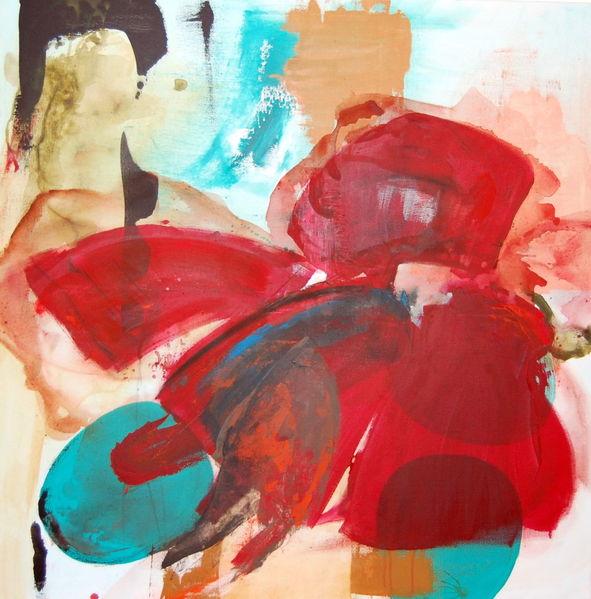 Schutzengel, Malerei, Abstrakt