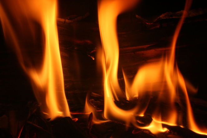 Ofen, Flammen, Glut, Feuer, Holz, Fotografie