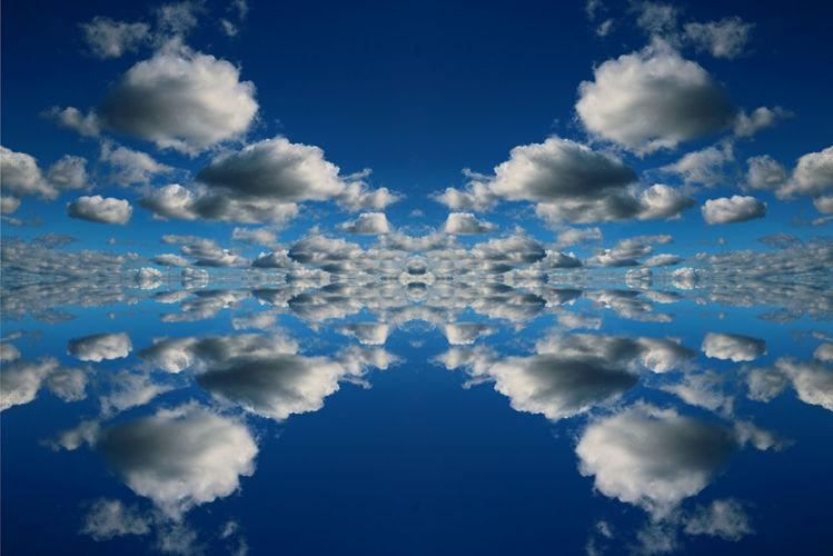 Mittag, Himmel, Weit, Spiegelung, Wind, Wolken