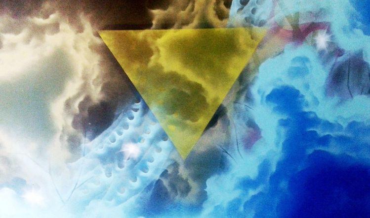 Blau, Univerum, Gelb, Sprühen, Dualität, Verbundenheit