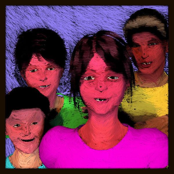 Kachel, Passepartout, Kopf, Charakter, Model, Dunkel