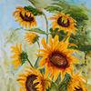 Herbst, Grün, Acrylmalerei, Natur