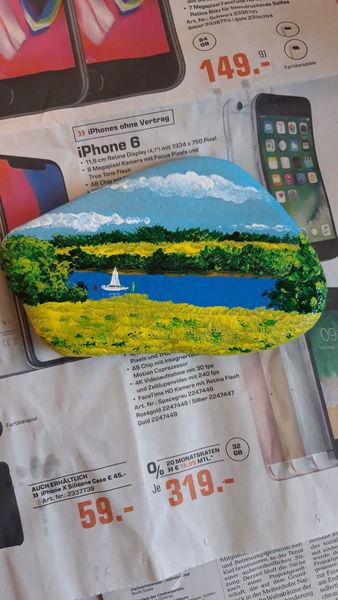 Landschaft, Frühling, Schlei, Rapsblüte, Malerei