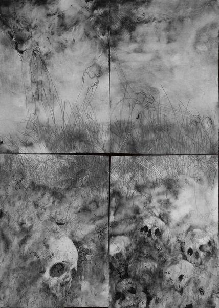 Tod, Zeichnung, Radierung, Druckgrafik