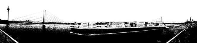 Düsseldorf, Rhein, Turm, Sensation, Panorama, Schiff