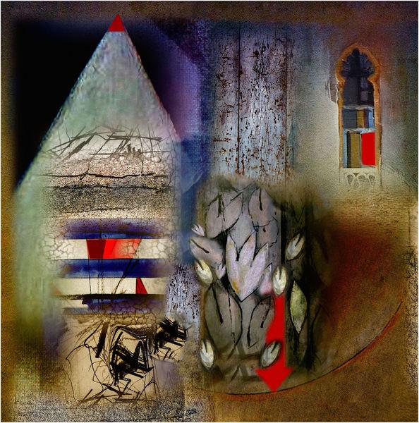 Phantasiewelten, Verborgen, Traum, Digitale kunst, Pfeil
