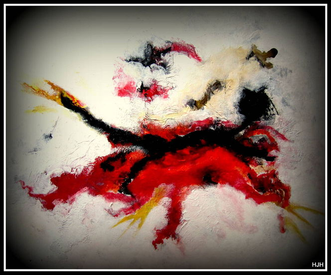 Fledermaus, Tiere, Rot schwarz, Malerei,