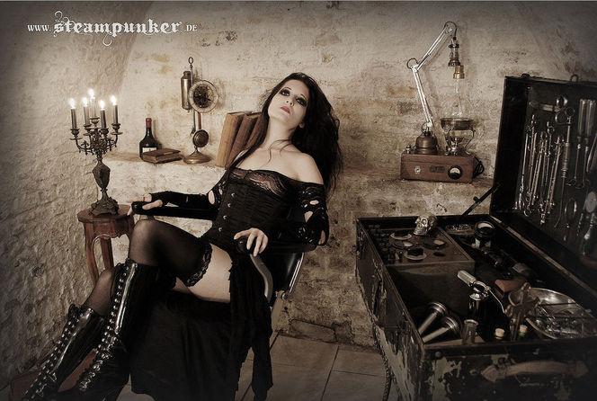 Steampunk, Fantasie, Alt, Keller, Schloss, Düster