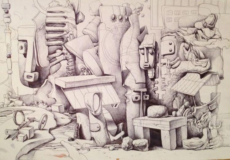 Gemälde, Schattenspiel, Wand, Wallpaper, Sur, Zeichnungen