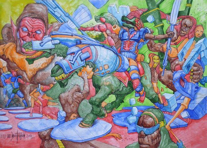 Surreal, Wallpaper, Farben, Wand, 壁橱, Gemälde