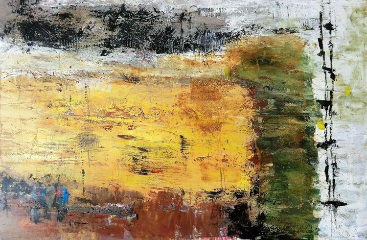 Nicht gegenständlich, Malerei, Moderne malerei, Abstrakte landschaft