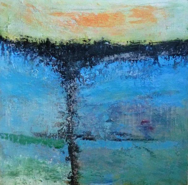 Ozean, Malerei, Aufgewühlt, Abstrakte landschaft, Moderne malerei, Nicht gegenständlich