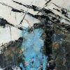 Nicht gegenständlich, Weiß, Moderne malerei, Blau