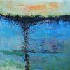Malerei, Aufgewühlt, Abstrakte landschaft, Moderne malerei